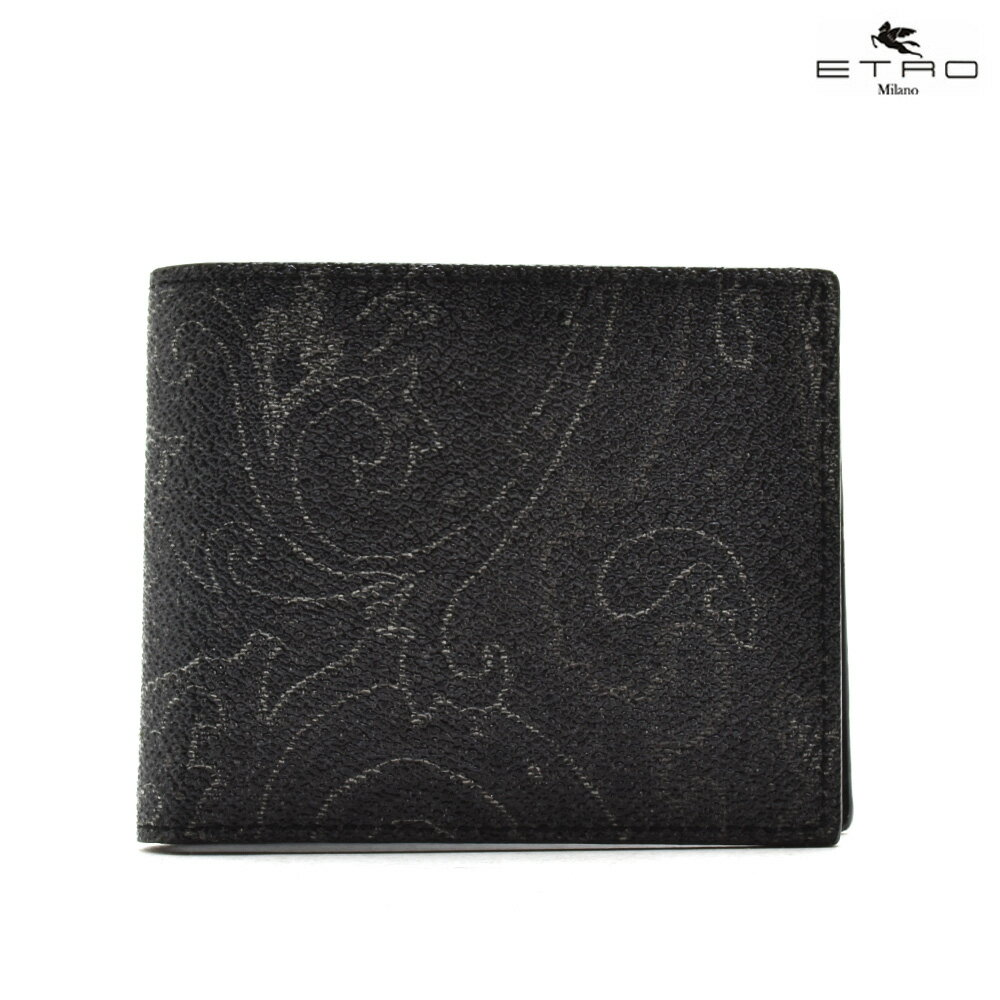 エトロ ETRO 1F557 8249/1 二つ折り財布 ブラック 黒 BLACK メンズ 【送料無料】