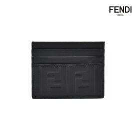 【エントリーでP3倍 12月14日9:59まで】フェンディ FENDI 7M0164 A18A/F0SAJ BLACK カードケース カードホルダー 名刺入れ パスケース ブラック 黒 メンズ【送料無料】