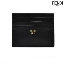 【エントリーでP3倍 12月14日9:59まで】フェンディ FENDI 8M0269 SWD/E6E カードケース パスケース 名刺入れ ブラック ベージュ バイカラー メンズ【送料無料】