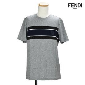 フェンディFENDI FAF511 A2UV/F0TAZ T-SHIRT GRAY クルーネック Tシャツ カットソー 半袖 グレー メンズ 【送料無料】