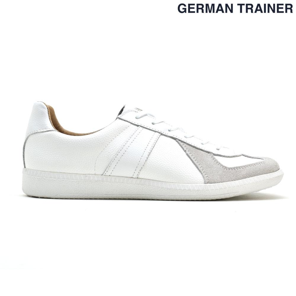 ジャーマントレーナー GERMAN TRAINER 42000 トレーニングシューズ スニーカー メンズ レディース オールホワイト 白 WHITE【送料無料】