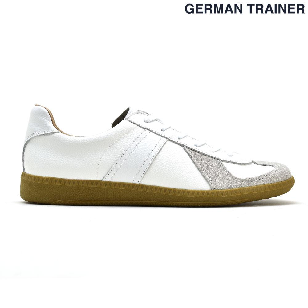 ジャーマントレーナー GERMAN TRAINER 42000 トレーニングシューズ スニーカー ガムソール メンズ レディース ホワイト 白 WHITE【送料無料】