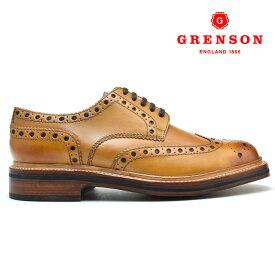 グレンソン アーチー タン カーフ GRENSON ARCHIE 110006 TAN CALF 英国製 革靴 メンズ 【送料無料】