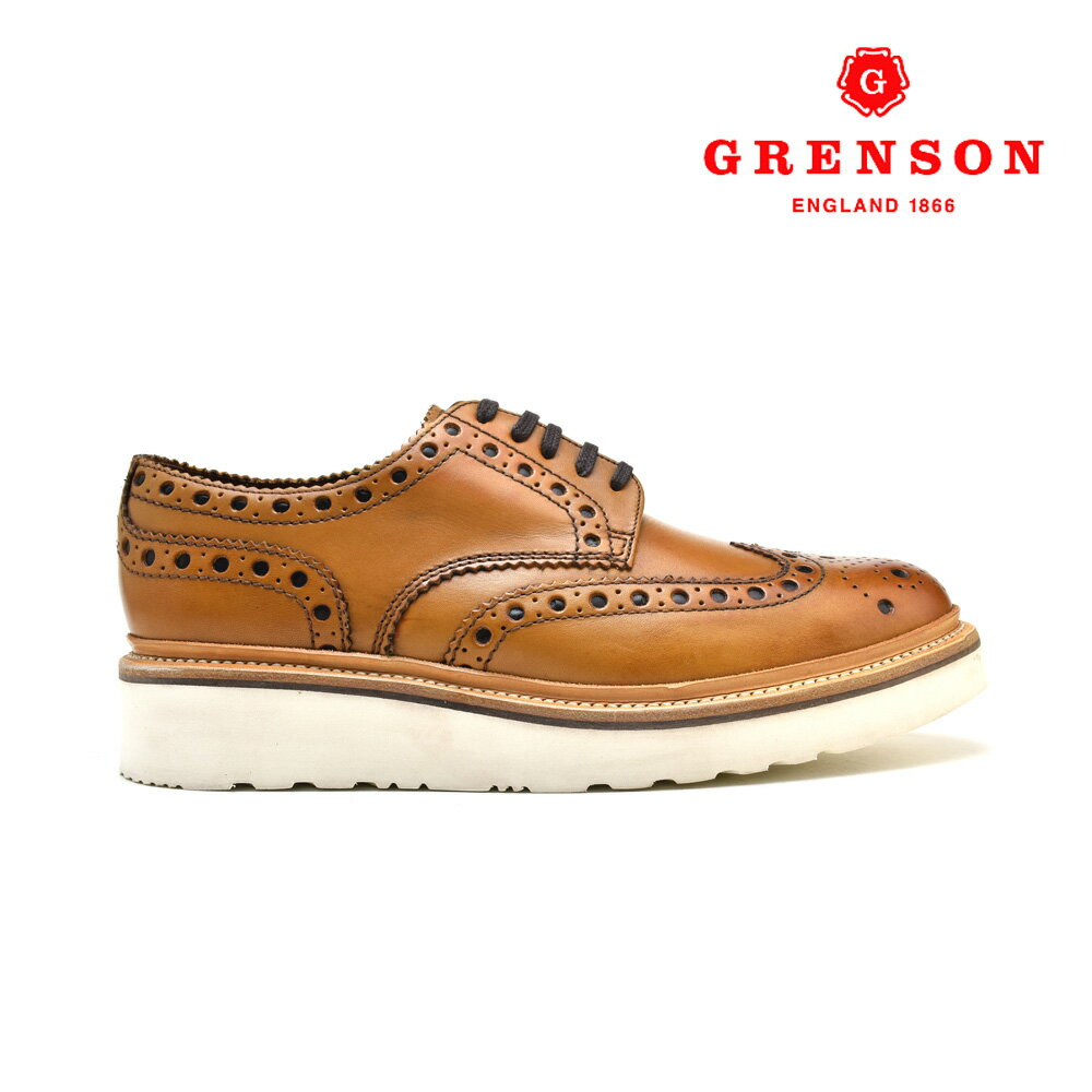 グレンソン アーチーV タン カーフ GRENSON ARCHIE V 110007 TAN CALF 英国製 革靴 メンズ 【送料無料】
