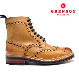 【エントリーでポイント5倍 8/2 0:00~8/9 1:59】グレンソン フレッド タン カーフ GRENSON FRED 110011 TAN CALF 英国製 革靴 メンズ 【送料無料】