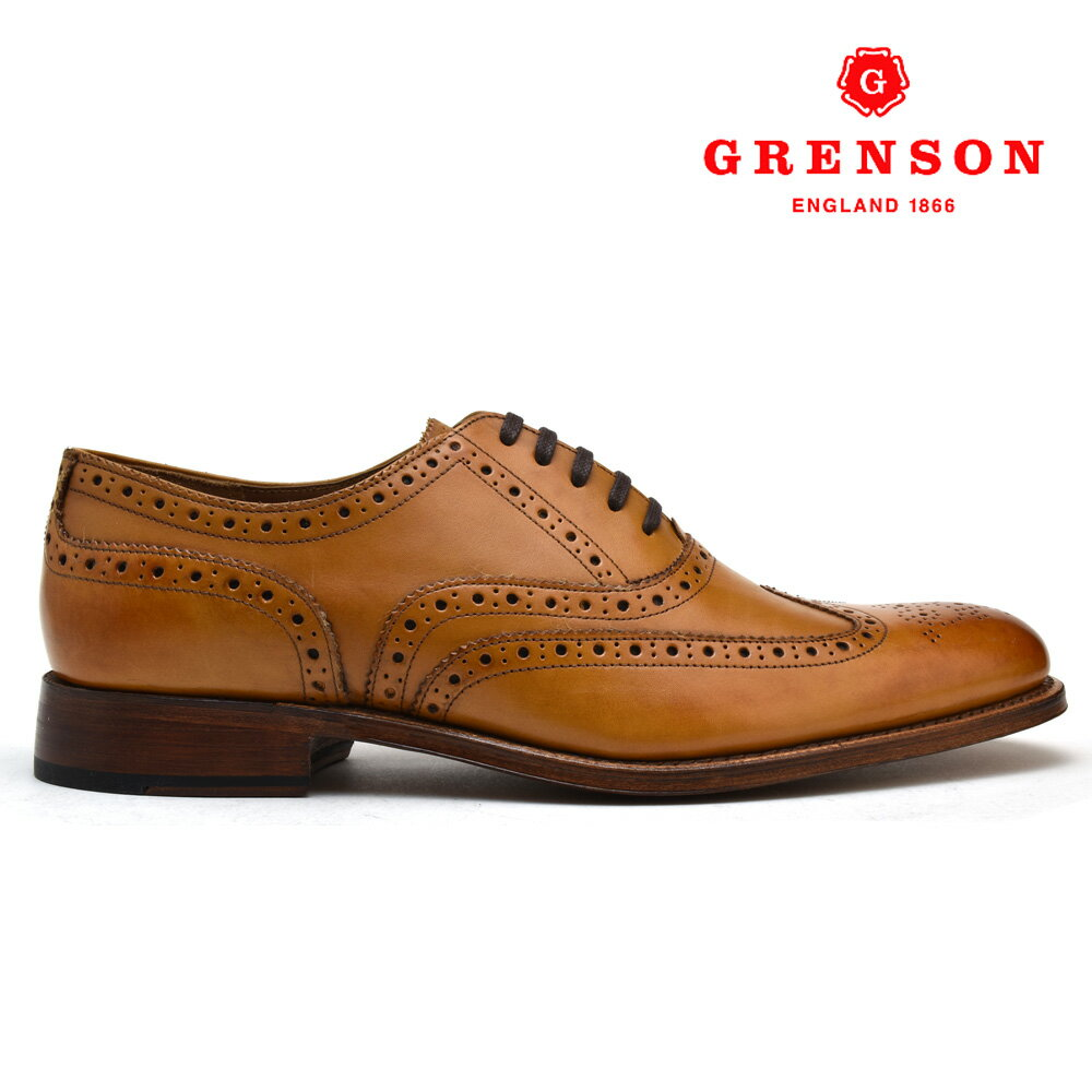 グレンソン ディラン タン カーフ GRENSON DYLAN 110014 TAN CALF 英国製 革靴 メンズ 【送料無料】