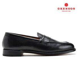 グレンソン GRENSON LLOYD BLACK CALF 110774 ローファー スリッポン 革靴 紳士靴 靴 ブラック 黒 メンズ【送料無料】