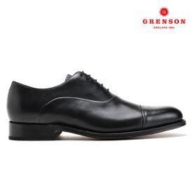 グレンソン GRENSON BERT BLACK CALF 111893 バート オックスフォード シューズ 革靴 紳士靴 レースアップシューズ ブラック 黒 メンズ【送料無料】