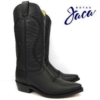 黑客Botas Jaca 3103 black waxybiker no stripwestern boots cow boy西部長筒靴牛仔長筒靴黑色書皮革黑WESTERN BOOT victoria