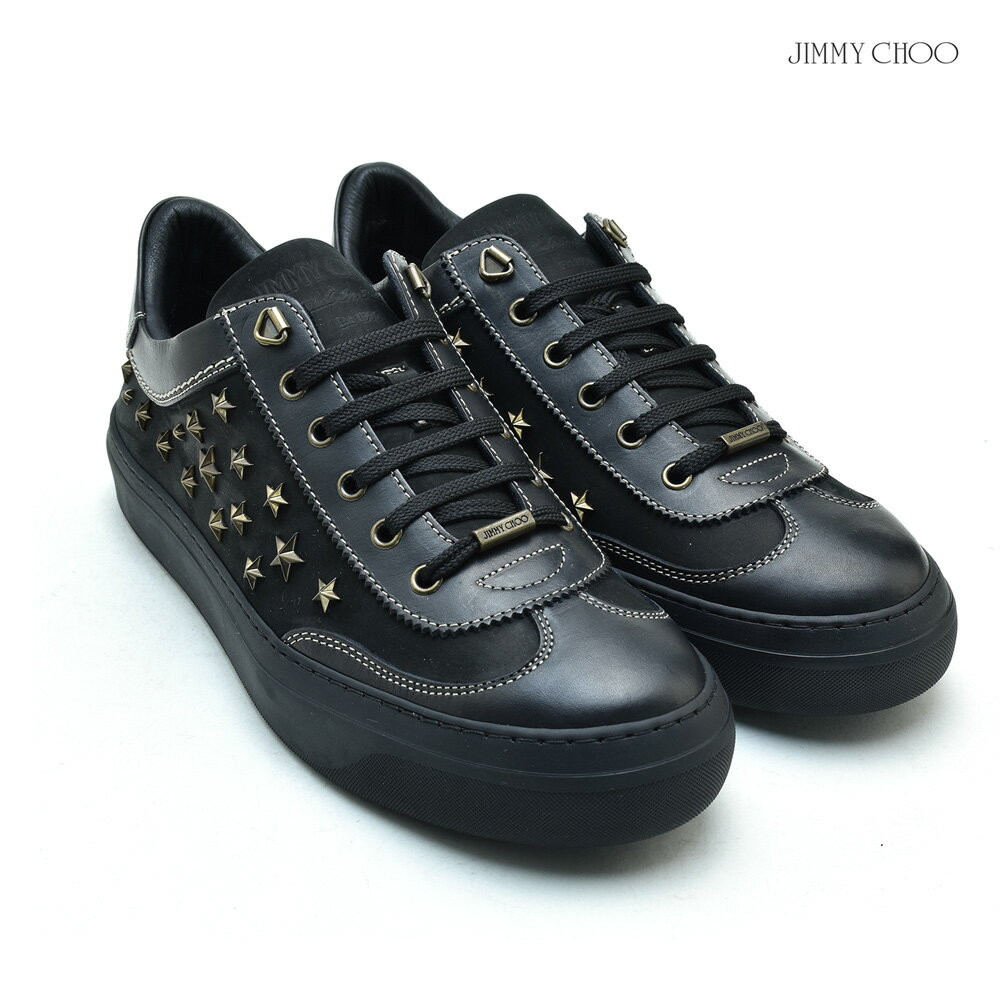 【価格見直しました】ジミーチュウ JIMMY CHOO ACE WUS/BLACKANTIQUE BRASS SHOES