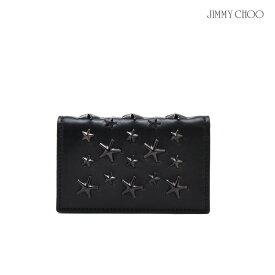 【期間限定SALE 7月31日11:59まで】ジミーチュウ JIMMY CHOO NELLO ENL/BLACK/BLACK スタースタッズ付き カードケース パスケース 名刺入れ ブラック 黒 メンズ レディース【送料無料】