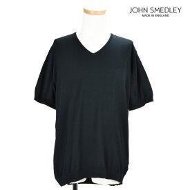 【エントリーでP3倍 12月14日9:59まで】ジョンスメドレー JOHN SMEDLEY BRAEDON BLACK Vネック カットソー トップス 半袖 ブラック 黒 メンズ【送料無料】