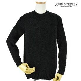 ジョンスメドレー JOHN SMEDLEY moss-black MOSS モス ニット セーター クルーネック メンズ ブラック BLACK 黒【送料無料】