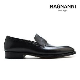 マグナーニ MAGNANNI 21153 NEGRO ローファー ドレスシューズ ビジネスシューズ Uチップ 革靴 紳士靴 ブラック 黒 メンズ【送料無料】