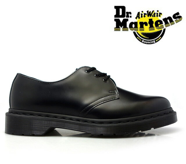 Dr.Martens 3EYE GIBSON SHOE 1461 MONO BLACK 14345001ドクターマーチン 3ホール 3アイギブソンシュー 【送料無料】