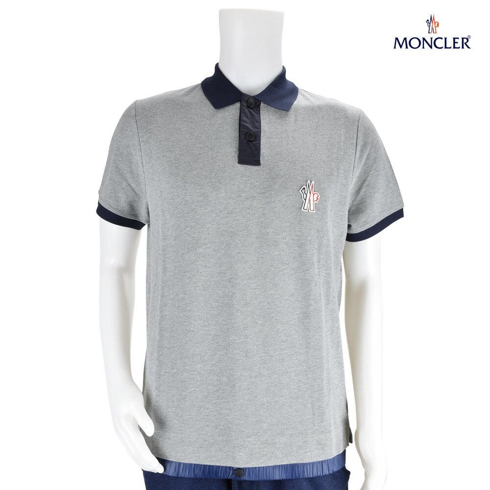モンクレール MONCLER 83000.00 84556/985 POLO-SHIRT Grey ポロシャツ グレー メンズ[po-10]