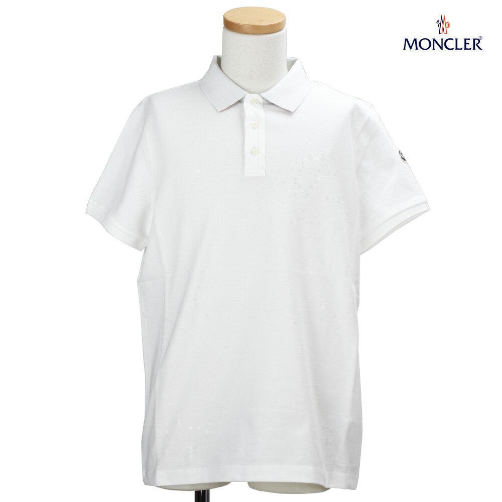 モンクレール MONCLER 83051.50 84556/004 POLO SHIRT ポロシャツ 鹿の子 半袖 ホワイト 白 WHITE メンズ【送料無料】[po-10]