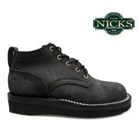ニックス NICKS BOOTS ブーツOX OXFORD SMOOTH 4inch オックスフォード スムース 4インチBLACK WIDTH:E ブラック E ワイズ 【送料無料】