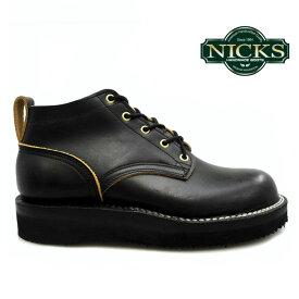 ニックス NICKS BOOTS ブーツ OX OXFORD SMOOTH 4inch オックスフォード ドワイン ブラック 【送料無料】