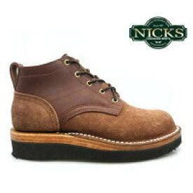 ニックス NICKS BOOTS ブーツOX OXFORD SMOOTH 4inch オックスフォード スムース 4インチCHOCOLATE WIDTH:E チョコレート E ワイズ 【送料無料】