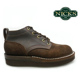 ニックス NICKS BOOTS ブーツOX OXFORD SMOOTH 4inch オックスフォード スムース 4インチMOCA WIDTH:E モカ E ワイズ 【送料無料】