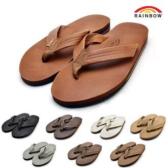 彩虹凉鞋人RAINBOW SANDALS双中间鞋底古典302ALTS0皮革凉鞋钳子