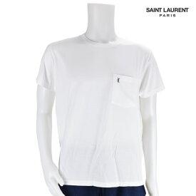 サンローラン Saint Laurent YSL 396675 Y2OP1/9000 T-SHIRT WHITE 白 Tシャツ 半袖 無地
