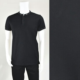 YSL SAINT LAURENT PARIS サンローラン 415192 Y2TD1/1081 ポロシャツ BLACK メンズ/トップス/TOPS【SS】【送料無料】