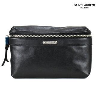 Saint-Laurent巴黎YSL SAINT LAURENT PARIS 505973 0AY8E/1000 BLACK CITY皮帶包身體包腰包黑色黑人