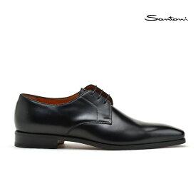 サントーニ ビジネスシューズ ドレスシューズ メンズ プレーントゥ 革靴 ブラック 黒 Santoni MCBO16053JC6IOBRN01【送料無料】
