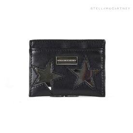 ステラマッカートニー STELLAMcCARTNEY 431019W9968/1000 METALLIC STARS ECO ALTER カードケース 名刺入れ パスケース ブラック 黒 レディース SLG Black