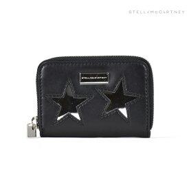 ステラマッカートニー STELLAMcCARTNEY 431022W9968/1000 METALLIC STARS ECO ALTER コインケース 小銭入れ ブラック 黒 レディース SLG Black