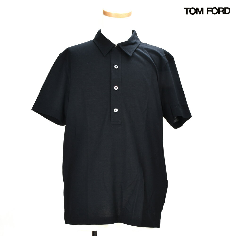 トムフォード TOM FORD 218TFJ907/K09 BLACK シャツ プレーンポロシャツ トップス 半袖 ブラック 黒 メンズ【送料無料】[po_3]