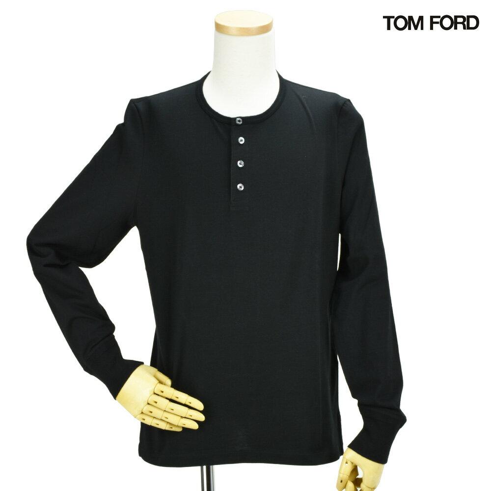 トムフォード TOM FORD BN402 TFJ890/K09 ヘンリーネック カットソー ロンT ブラック 黒 BLACK メンズ【送料無料】