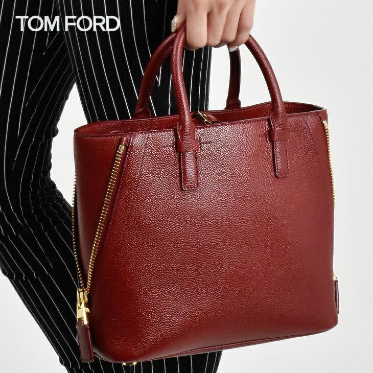 トムフォード TOM FORD レザー スモール トートバッグ ワインレッド l0664t venrub レディース/バッグ/BAG【送料無料】[tom-0131]