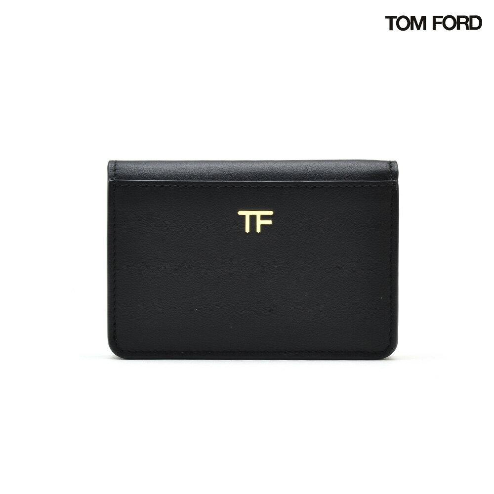 トムフォード TOM FORD S0248TCE7 BLACK アコーディオン式 カードホルダー カード入れ カードケース パスケース ブラック 黒 メンズ 【送料無料】