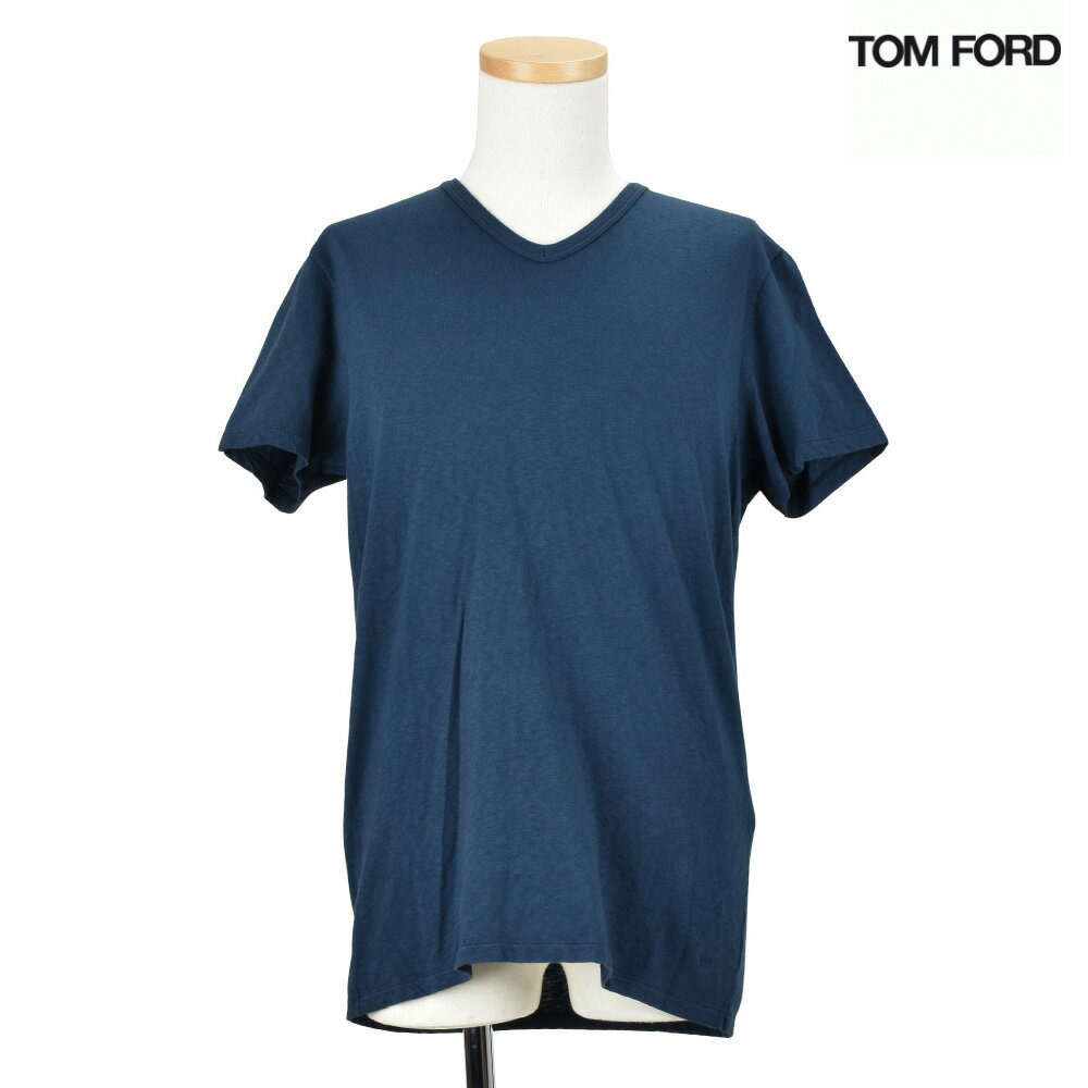 トムフォード TOM FORD TFJ820 BM393/B09 Vネック Tシャツ カットソー ネイビー メンズ T-shirt Navy 46