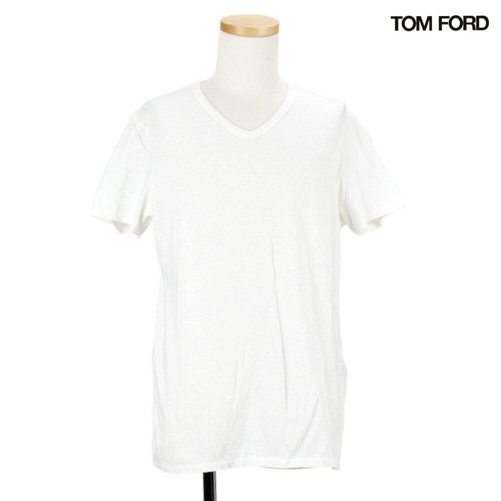 トムフォード TOM FORD TFJ820 BM393/N02 Vネック Tシャツ カットソー メンズ ホワイト 白 T-shirt White 46