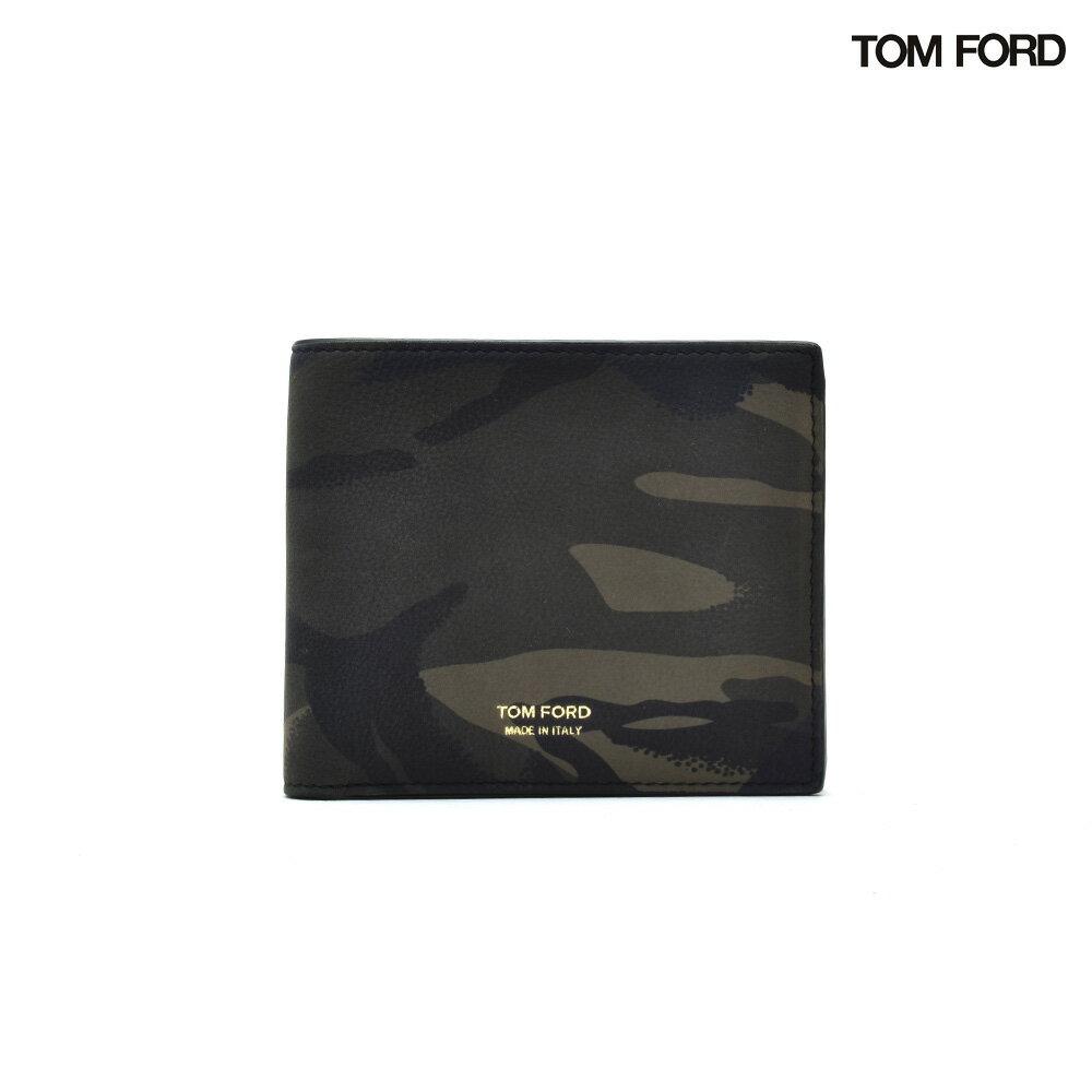 トムフォード TOM FORD Y0228FCH1 CAMOUFLAGE PRINT BILLFOLD WALLET カモフラージュ プリント ビフォード ウォレット 二つ折り財布 迷彩 カモ柄 カモフラ メンズ【送料無料】