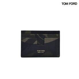 トムフォード TOM FORD Y0232FCH1 CAMOUFLAGE PRINT CARDHOLDER カモフラージュ プリント カードホルダー カード入れ カードケース パスケース 迷彩 カモ柄 カモフラ メンズ【送料無料】