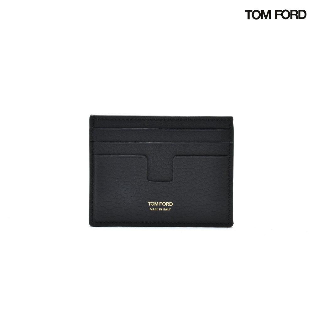 トムフォード TOM FORD Y0233FC95 EMBOSSED CARD HOLDER BLACK エンボス カードホルダー カードケース パスケース ブラック 黒 メンズ【送料無料】