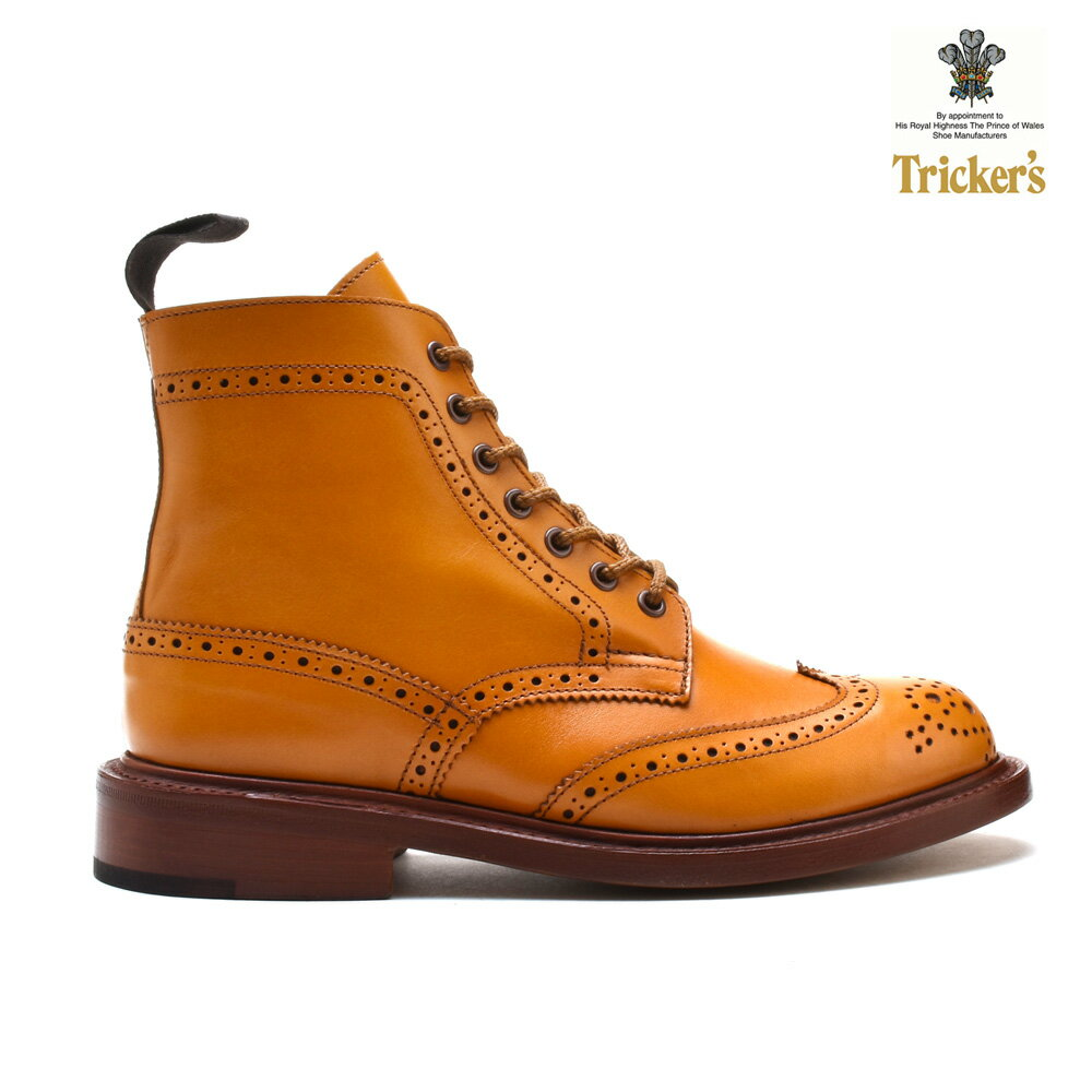トリッカーズ TRICKERS カントリーブーツ COUNTRY BOOT L5676 ダブルレザーソール ACORN ウィングチップ レディース