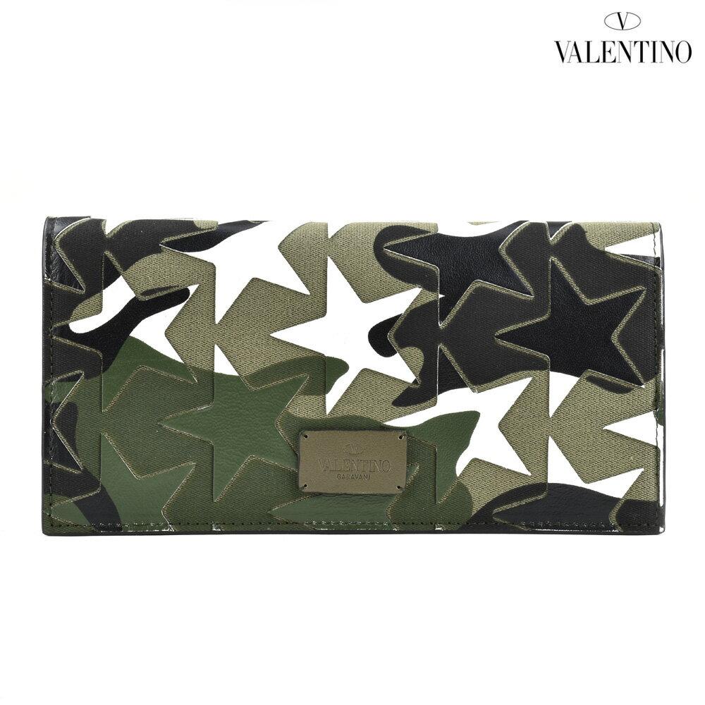 ヴァレンティノ VALENTINO MY2P0569GAC/U41 カムスターズ 二つ折り長財布 カモフラ メンズ WALLET ARMY GREEN