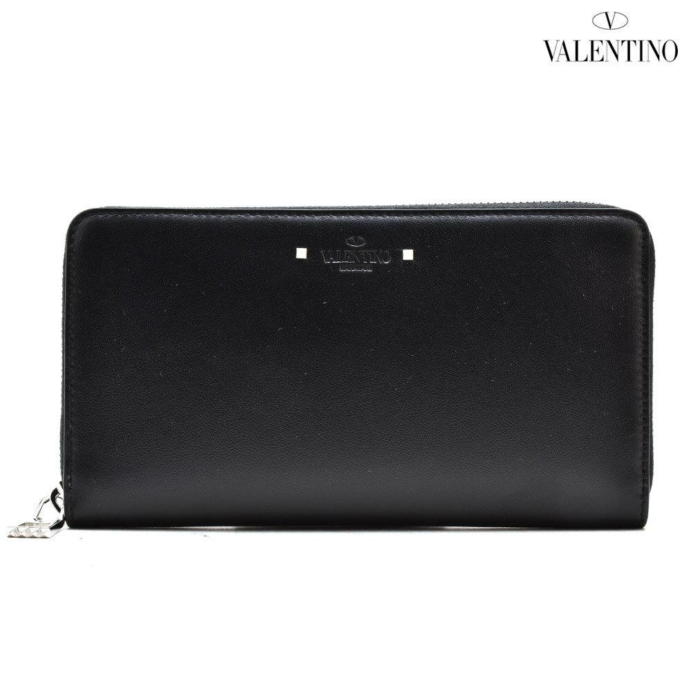 ヴァレンティノ VALENTINO NY0P0569CGR/0NO ラウンドファスナー長財布 スタッズ ブラック 黒 BLACK メンズ【送料無料】