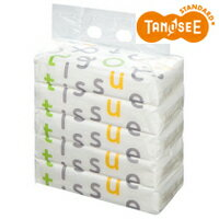 TANOSEE ソフトパックティッシュ Funny Line 150組/個 1セット(100個:5個×20パック)