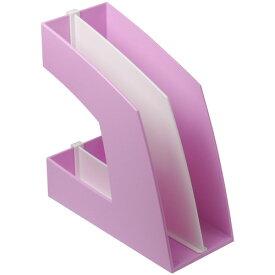 ソニック ファイルボックス 仕切板付 A4タテ 背幅107mm ピンク FB−708−P 1個