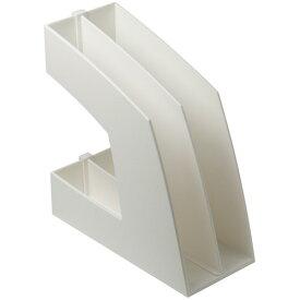 ソニック ファイルボックス 仕切板付 A4タテ 背幅107mm ホワイト FB−708−W 1セット(10個)