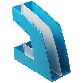 ソニック ファイルボックス 仕切板付 A4タテ 背幅107mm ライトブルー FB−708−LB 1セット(10個)