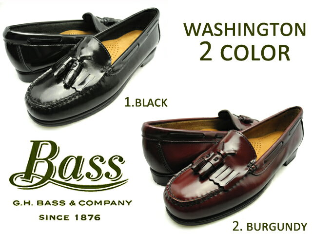 gh bass ローファー レディース ブラック バーガンティ ワシントン 黒 WASHINGTON BLACK BURGUNDY 黒 革靴[co-3]