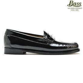 G.H.バス GH BASS PENNY BLACK PATENT WEEJUNS ジー エイチ バス ペニー ローファー カジュアルシューズ 革靴 パテントレザー ブラック 黒 レディース